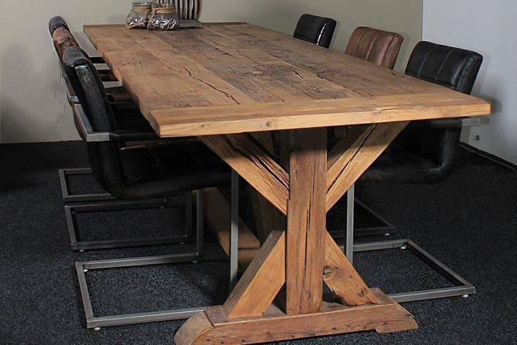 Robuuste Eiken Tafel : Inspirational robuuste eiken tafel tafels stoelen bureaus