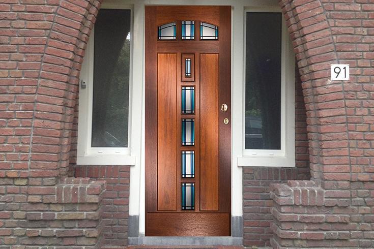 Project: massief houten voordeuren geplaatst